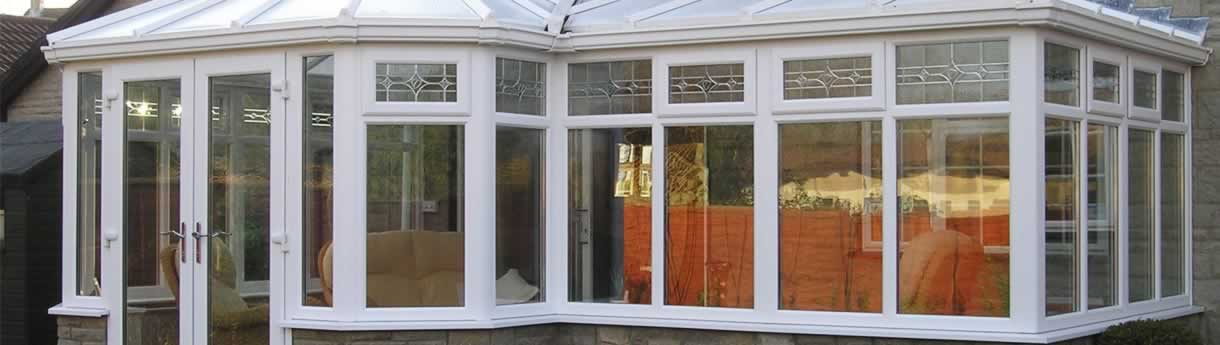 White uPVC conservatory suitable for all weather