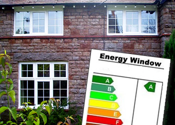 WER energy ratings indicating how energy efficient windows are