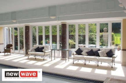 New Wave slide and swing patio doors installed by Mendip Conservatories